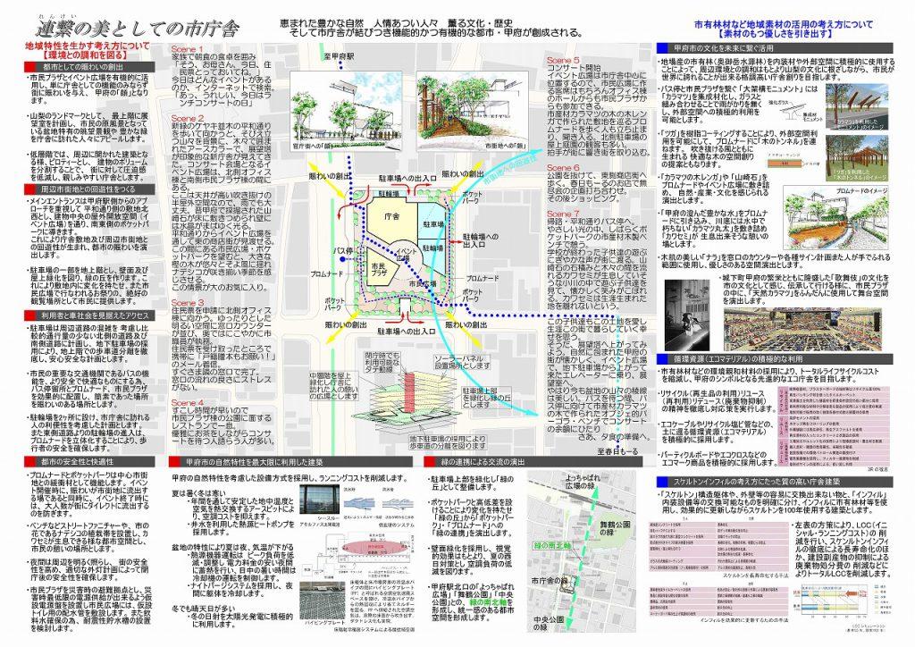 三宅建築設計事務所 甲府市新庁舎 技術提案書